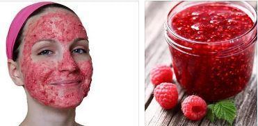 Увлажняющая маска для жирной кожи из малины
