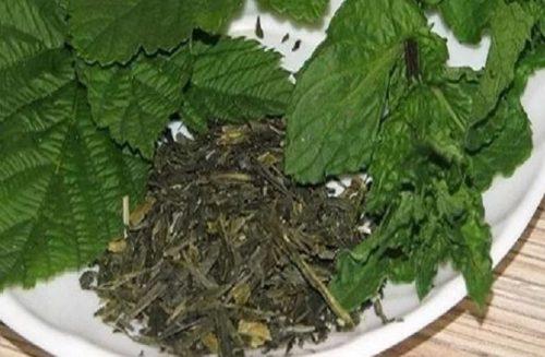 чай +из ферментированных листьев малины