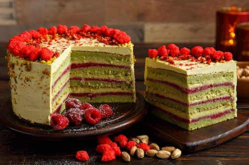 фисташково малиновый торт рецепт