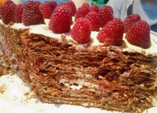 торт с малиной рецепт