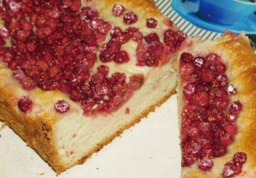 Простые в приготовлении малиновые пироги