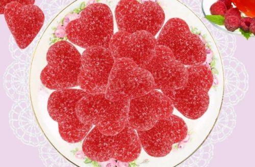Как делать желейные конфеты из малины